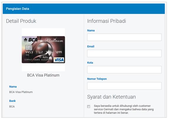 Pengisian data informasi pribadi