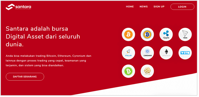 Homepage Santara